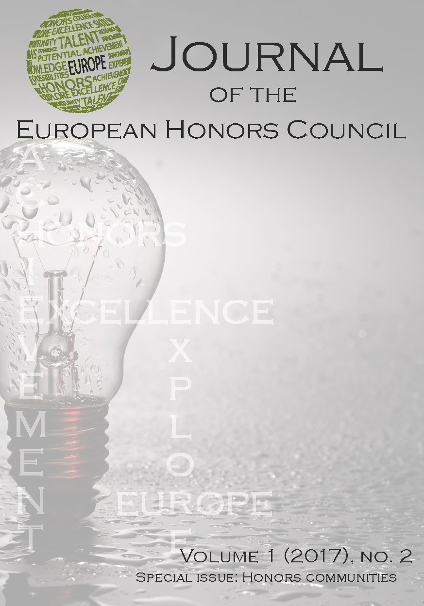 View Vol. 1 No. 2 (2017): Special issue: Honors Communities